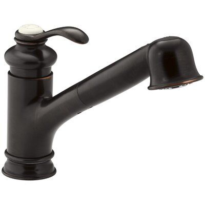Fairfax Single-Hole or Three-Hole Kitchen Sink Faucet with 9 Pullout Spout Finish: Oil Rubbed Bronze