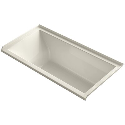 Underscore 60 x 30 Bathtub Finish: Almond, Drain Location: Left