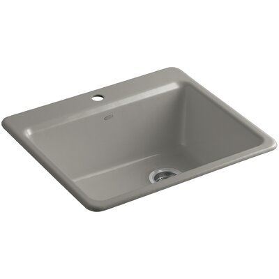 Riverby 25 x 22 x 9-5 8 Bar Kitchen Sink with Basin Rack Finish: Cashmere