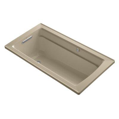 Archer Bubblemassage 60 x 32 Soaking Bathtub Sink Finish: Mexican Sand
