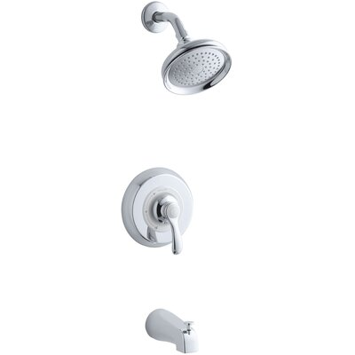 Fairfax Rite-Temp Pressure-Balancing Bath and Shower Faucet Trim, Valve Not Included Finish: Polished Chrome