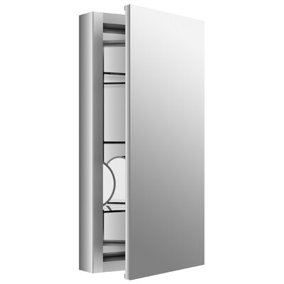 Verdera 15 x 30 Aluminum Medicine Cabinet with Adjustable Magnifying Mirror and Slow-Close Door