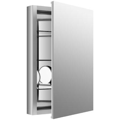Verdera 20 W x 30 H Aluminum Medicine Cabinet with Adjustable Magnifying Mirror and Slow-Close Door