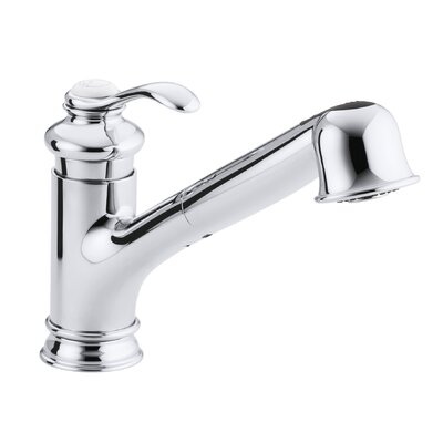 Fairfax Single-Hole or Three-Hole Kitchen Sink Faucet with 9 Pullout Spout Finish: Polished Chrome