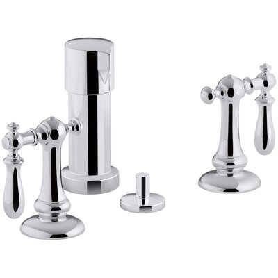 Artifacts Widespread Bidet Faucet with Swing Lever Handles Finish: Polished Chrome