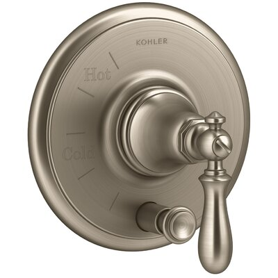 Artifacts Rite-Temp Pressure-Balancing Valve Trim with Push-Button Diverter and Swing Lever Handle Finish: Vibrant Brushed Bronze