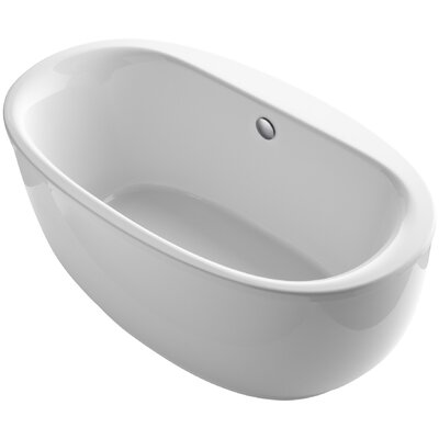 Sunstruck Freestanding 66 x 36 Soaking Bathtub Finish: White