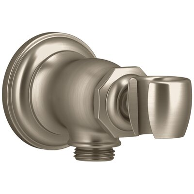 Artifacts Wall-Mount Handshower Holder and Supply Elbow Finish: Vibrant Brushed Bronze