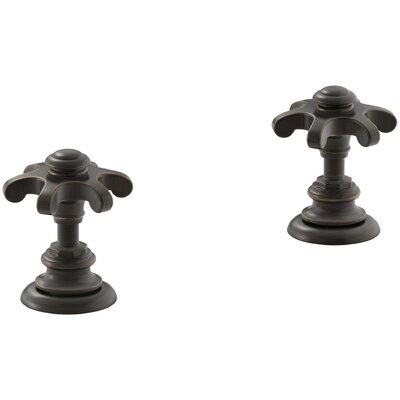 Artifacts Bathroom Sink Prong Handles Handle Finish: Oil Rubbed Bronze
