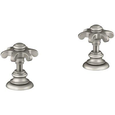 Artifacts Bathroom Sink Prong Handles Handle Finish: Vibrant Brushed Nickel