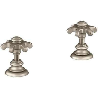 Artifacts Bathroom Sink Prong Handles Handle Finish: Vibrant Brushed Bronze