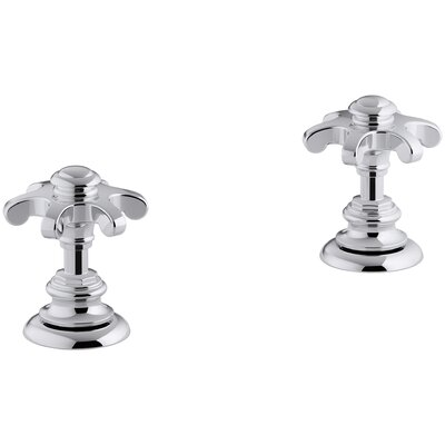 Artifacts Bathroom Sink Prong Handles Handle Finish: Polished Chrome