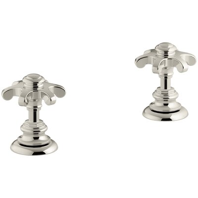 Artifacts Bathroom Sink Prong Handles Handle Finish: Vibrant Polished Nickel