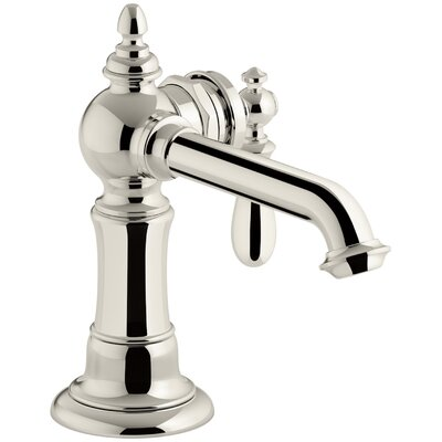 Kohler� Artifacts Standard Bathroom Faucet Double Handle with Drain Assembly Finish: Vibrant Polished Nickel
