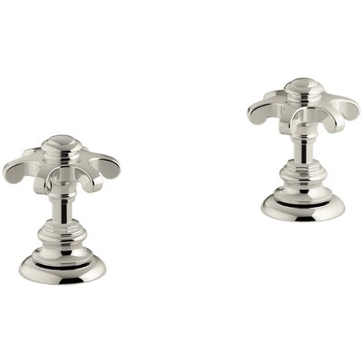 Artifacts Deck-Mount Bath Prong Handle Trim Finish: Vibrant Polished Nickel