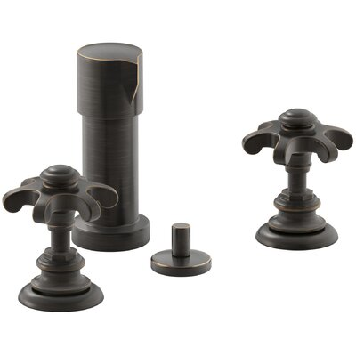 Artifacts Widespread Bidet Faucet with Prong Handles Finish: Oil Rubbed Bronze