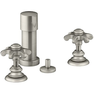 Artifacts Widespread Bidet Faucet with Prong Handles Finish: Vibrant Brushed Nickel