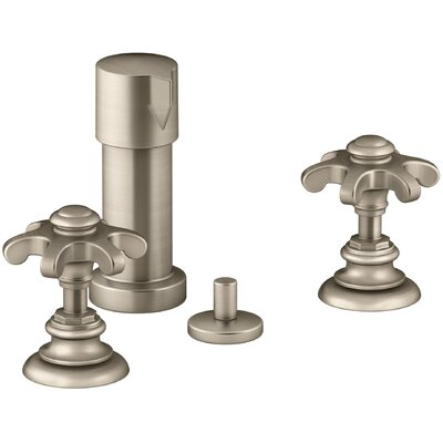 Artifacts Widespread Bidet Faucet with Prong Handles Finish: Vibrant Brushed Bronze