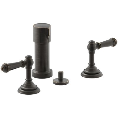Artifacts Widespread Bidet Faucet with Lever Handles Finish: Oil Rubbed Bronze
