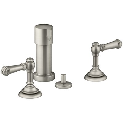 Artifacts Widespread Bidet Faucet with Lever Handles Finish: Vibrant Brushed Nickel