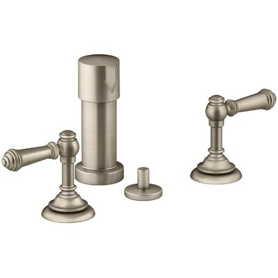 Artifacts Widespread Bidet Faucet with Lever Handles Finish: Vibrant Brushed Bronze