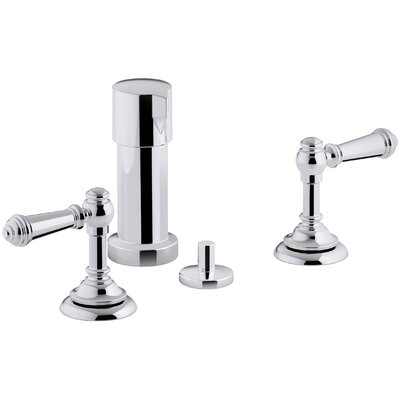Artifacts Widespread Bidet Faucet with Lever Handles Finish: Polished Chrome