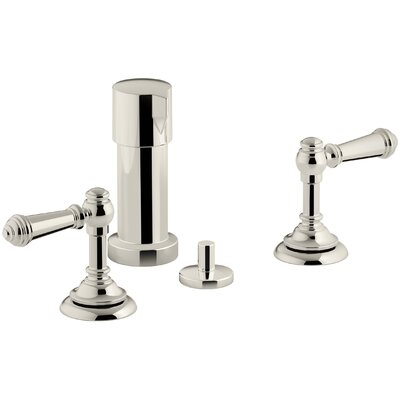 Artifacts Widespread Bidet Faucet with Lever Handles Finish: Vibrant Polished Nickel