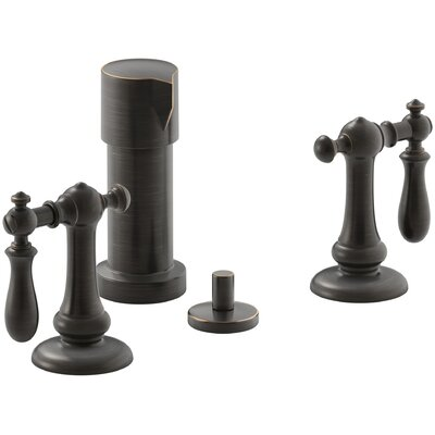 Artifacts Widespread Bidet Faucet with Swing Lever Handles Finish: Oil Rubbed Bronze