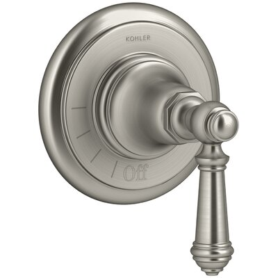 Artifacts Volume Control Valve Trim with Lever Handle Finish: Vibrant Brushed Nickel
