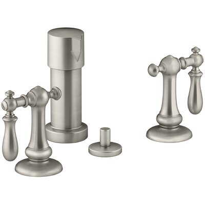 Artifacts Widespread Bidet Faucet with Swing Lever Handles Finish: Vibrant Brushed Nickel