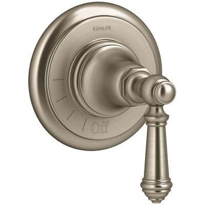 Artifacts Volume Control Valve Trim with Lever Handle Finish: Vibrant Brushed Bronze