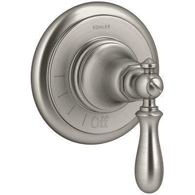 Artifacts Volume Control Valve Trim with Swing Lever Handle Finish: Vibrant Brushed Nickel