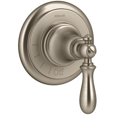 Artifacts Volume Control Valve Trim with Swing Lever Handle Finish: Vibrant Brushed Bronze