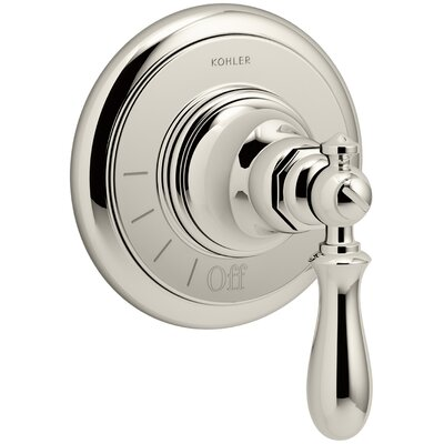 Artifacts Volume Control Valve Trim with Swing Lever Handle Finish: Vibrant Polished Nickel