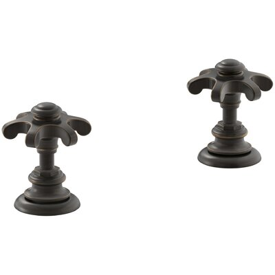 Artifacts Deck-Mount Bath Prong Handle Trim Finish: Oil Rubbed Bronze