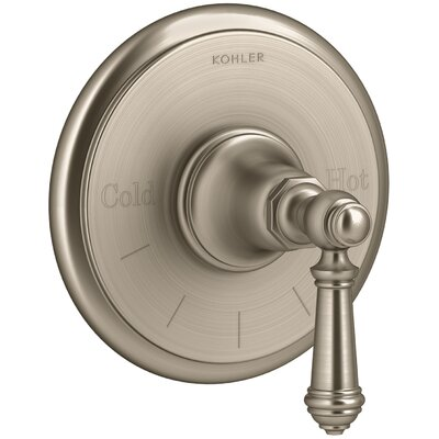 Artifacts Thermostatic Valve Trim with Lever Handle Finish: Vibrant Brushed Bronze
