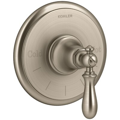 Artifacts Thermostatic Valve Trim with Swing Lever Handle Finish: Vibrant Brushed Bronze