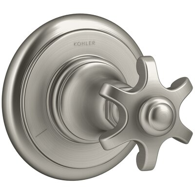 Artifacts Transfer Valve Trim with Prong Handle Finish: Vibrant Brushed Nickel K-T72770-3M-BN