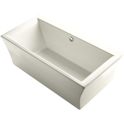 Stargaze Freestanding 72 x 36 Soaking Bathtub Finish: Biscuit