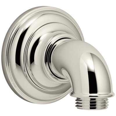 Artifacts Wall-Mount Supply Elbow Finish: Vibrant Polished Nickel