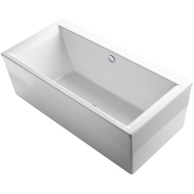 Stargaze Freestanding 72 x 36 Soaking Bathtub Finish: White