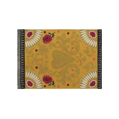Cedeneta Goyescas Yellow Area Rug Rug Size: 68 x 910