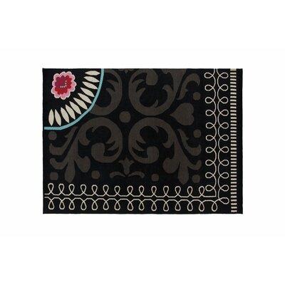 Cedeneta Goyescas Black Area Rug Rug Size: 57 x 711
