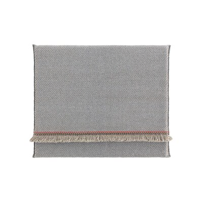 Garden Layers Diagonal Outdoor Floor Pillow Color: Almond/Blue