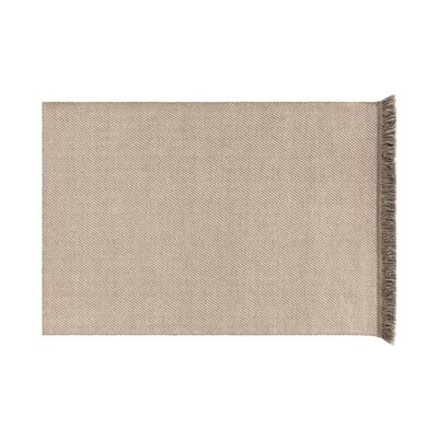 Garden Layers Diagonal Almond/Ivory Indoor/Outdoor Area Rug Rug Size: Rectangle 411 x 68