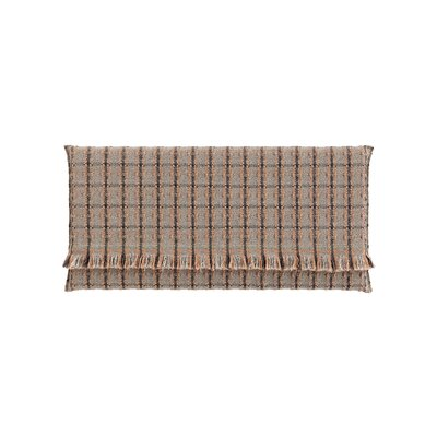 Garden Layers Checks Outdoor Floor Pillow Color: Terracotta