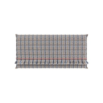 Garden Layers Checks Outdoor Floor Pillow Color: Blue