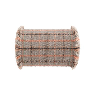 Garden Layers Tartan Outdoor Bolster Color: Terracotta