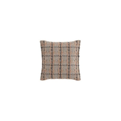 Garden Layers Checks Outdoor Throw Pillow Color: Terracotta