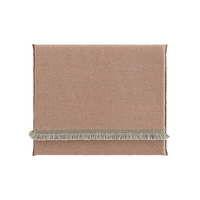 Garden Layers Diagonal Outdoor Floor Pillow Color: Almond/Peach